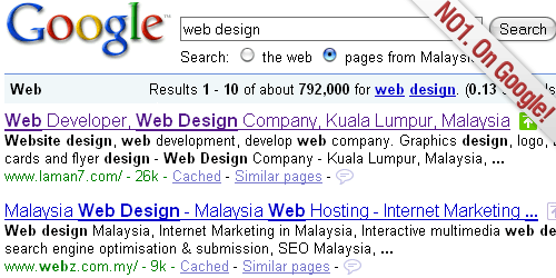Laman7 No 1 on Google
