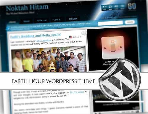 Earth Hour WordPress