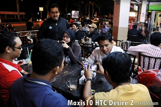 Unboxing of HTC Desire Z at Mamak!