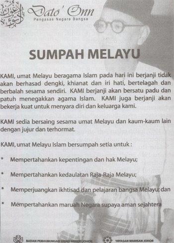 Sumpah Melayu: Dato Onn 1