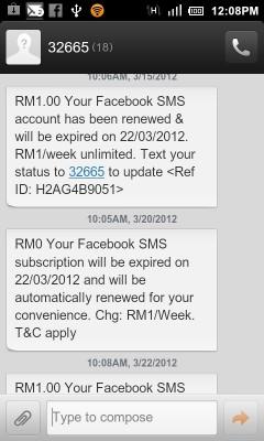 Celcom dan Facebook Status Update
