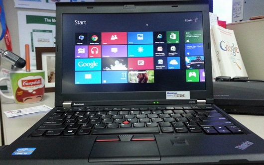Wordless Wednesday: Windows 8 on ThinkPad X230
